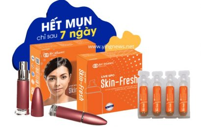 Xịt lợi khuẩn Skin Fresh | Hết mụn chỉ sau 7 ngày