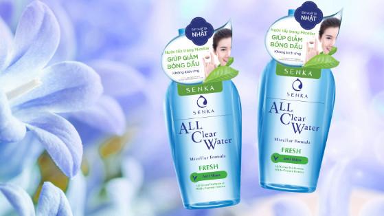 Review Nước Tẩy Trang Senka All Clear Water Fresh